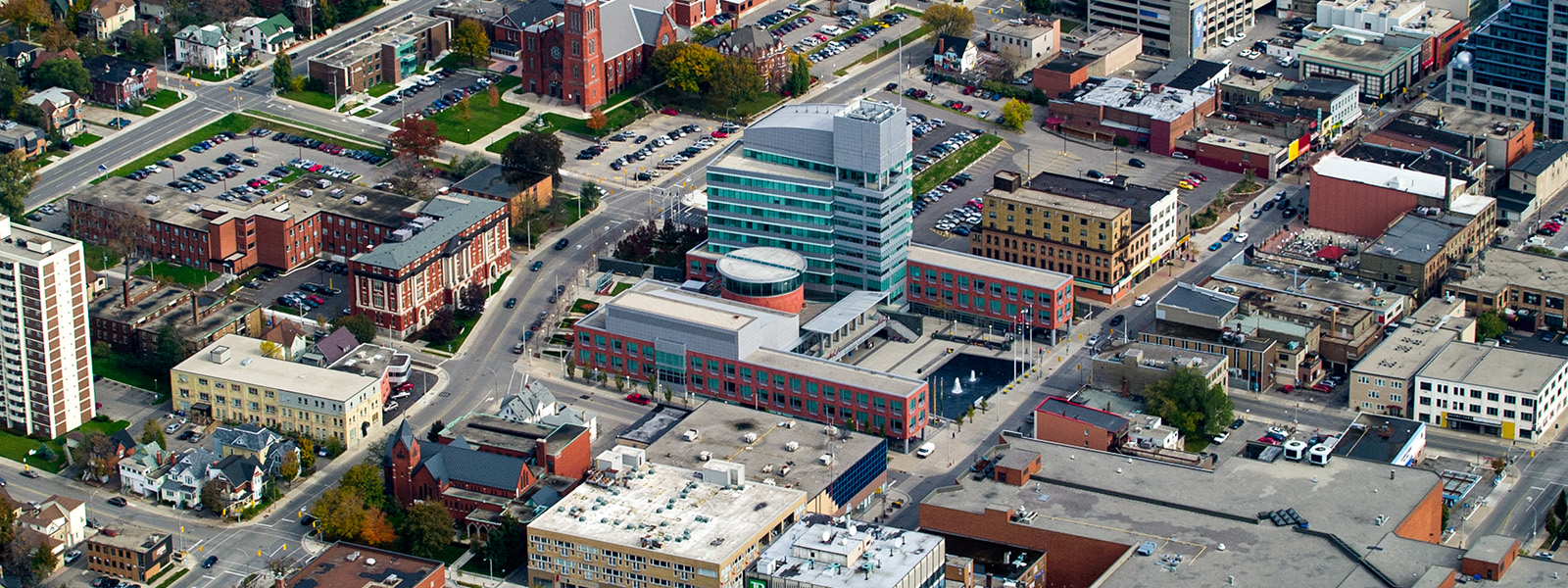 Aerial Photography Kitchener City Hall